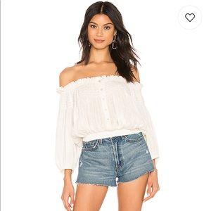 Free people off shoulder blouse top